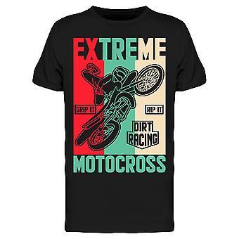 Dirt Racing Motocross Tee Uomo's -Immagine di Shutterstock