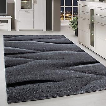 Shortfloral Design Rug Shadow Pattern Living Room Rug Black Grey Melted