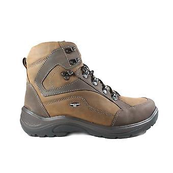 Waldläufer Jared Hayo 415900 401 822 bruin lederen mens waterdichte Lace up Walking Boots