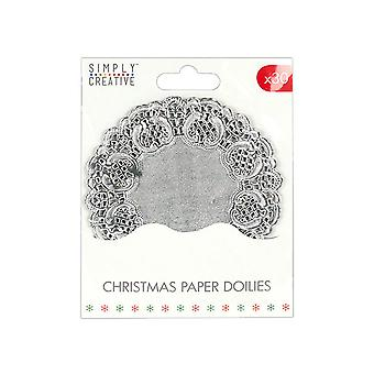 Simply Creative Silver Paper Doilies