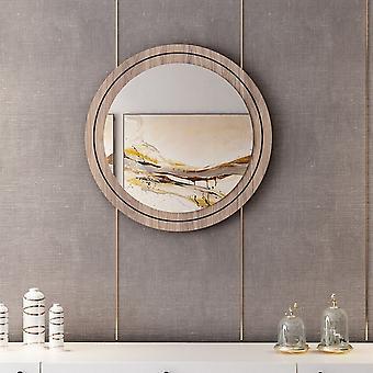 Spiegel Lady Farbe schwarz, Holz, Chrom in Melaminic Chip, Spiegel, L60xP2xA60 cm