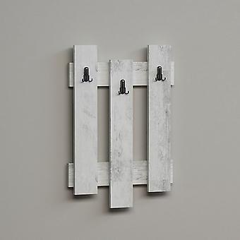 Appendiabiti Nix Colore Legno Bianco in Truciolare Melaminico, L45xP3,6xA66 cm