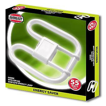 Eveready 55W 4-nastainen 2D-energian säästö lamppu