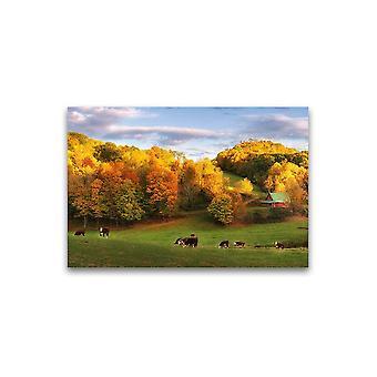 Mooie Herfst Farm Landschap Poster -Afbeelding door Shutterstock