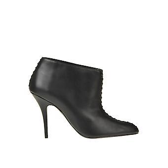 Stella Mccartney Ezgl024087 Dames's Black Faux Leather Enkellaarsjes