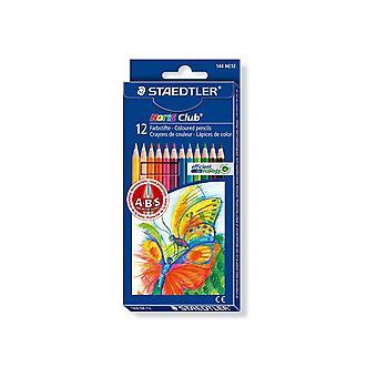 Staedtler gekleurde potloodset, doos van 12 kleuren