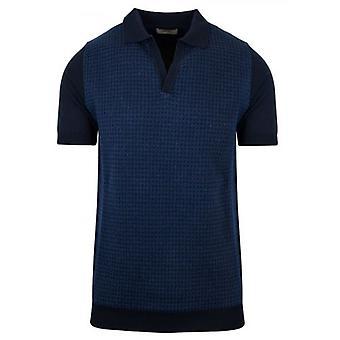 CC Collection Corneliani Knitted Open Collar Polo Shirt