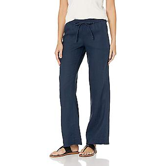 28 Palms Women-apos;s Relaxed-Fit Wide Leg Linen Pant avec, Blue Night, Size Large