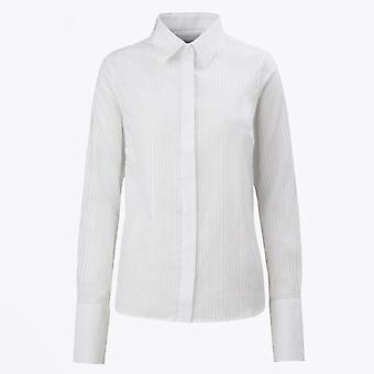 A-line  - AL03 - Striped Shirt - White