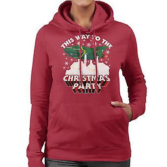 Thunderbirds 2 auf diese Weise zu der Weihnachtsfeier Frauen's Kapuzen Sweatshirt