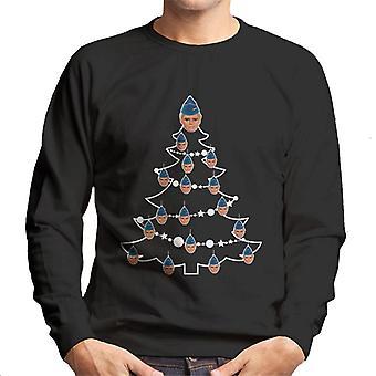 Thunderbirds Christmas Tree John Tracy Men's Sweatshirt