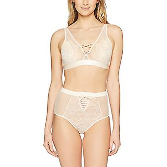 Brand - Mae Women's Allover Lace Bralette And High Waisted Panty Set, ...