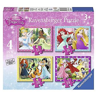 Ravensburger Disney Princess 4 in een doos puzzels