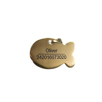 Customized Anti Lost Dog Id Tag - Metal Name Engraving Pendant For Puppies
