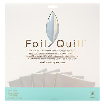 We R Memory Keepers Foil Sheets 12x12 Inch Silver Swan
