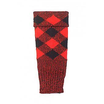 House of Cheviot Highland Hose Regimental Hose Tops - Rojo y Negro
