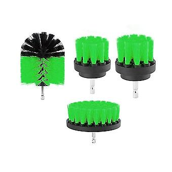 4 pieces set 2/3.5/4/5 inch All Purpose Drill Brush (Green)