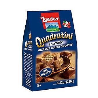 Quadratini Bite Veľkosť Oblátky Cookies Čokoláda