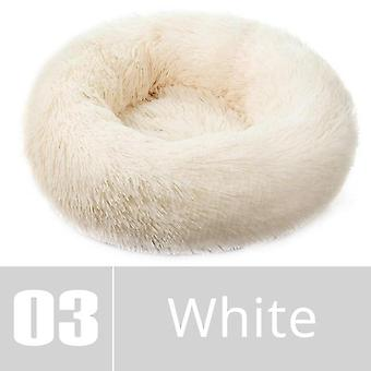 Round Plush Dog Bed - House Dog Mat Winter Warm Sleeping