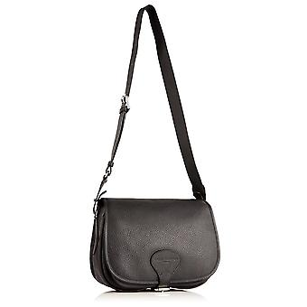 Sophie Leather Saddle Bag in Slate Grey Richmond Chrome Free Leather