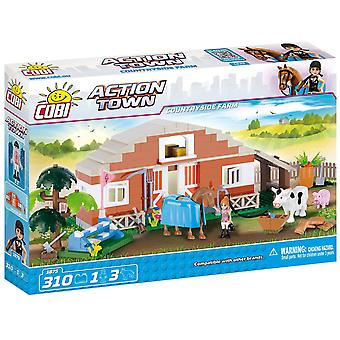 Cobi Action Town Countryside Farm Cow and Horse Building Blocks Bricks For Kids 310 Piece Compatible Age 5+