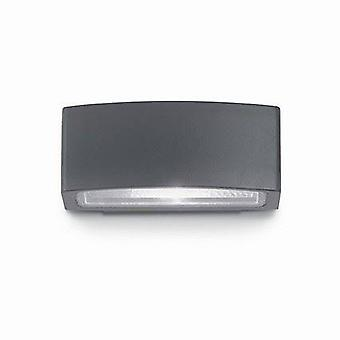 1 luce esterna piccola su giù parete luce nero IP55, E27