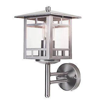Elstead Kolne - 1 lámpara de pared al aire libre ligera acero inoxidable, E27