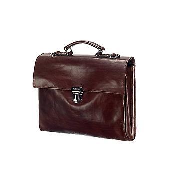 Leather Laptop Bag - The Walker - Dark Brown