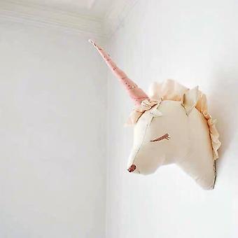 طفلة فتاة غرفة ديكور الغزلان يونيكورن محشوة اللعب للديكور الجدار