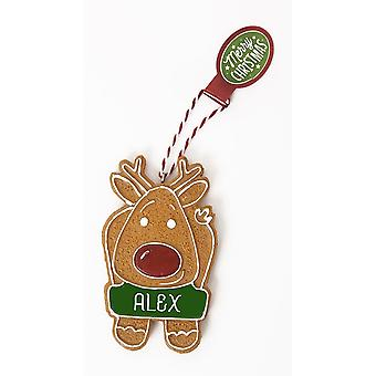 History & Heraldry Personalised Gingerbread Tree Decorations - Alex