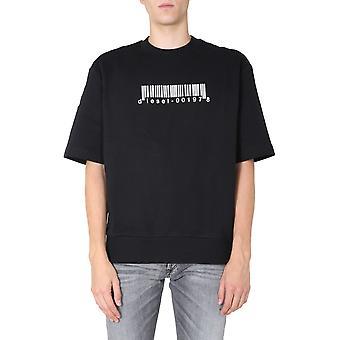 Diesel A005150tazn9xx Männer's schwarze Baumwolle Sweatshirt