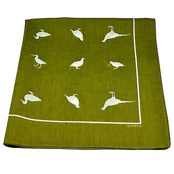 Ties Planet Green Game Birds Bandana Neckerchief