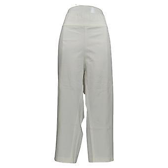 Isaac Mizrahi Live! Women's Petite Pants Stretch Waistband White A353847