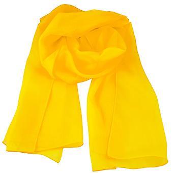 Krawatten Planet Plain Golden Gelb Chiffon Schal