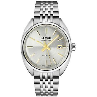 Gevril Men's 48702 Five Points Automatic Stainless Steel Date Swiss Watch