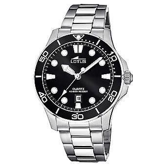 Lotus Men's Stainless Steel Bracelet | Black Dial L18759/3 Watch