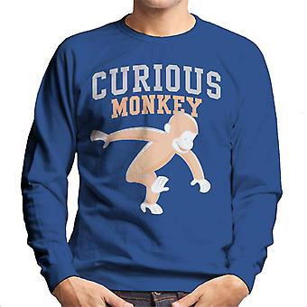 Curieux George Monkey Sports Font Men-apos;s Sweatshirt