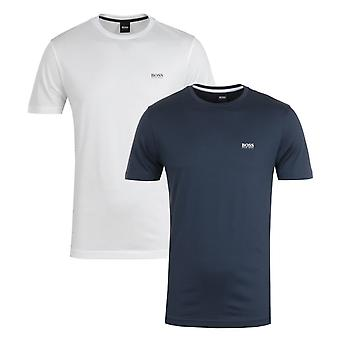 BOSS 2 Pack Sustainable Performance Navy & White T-Shirts