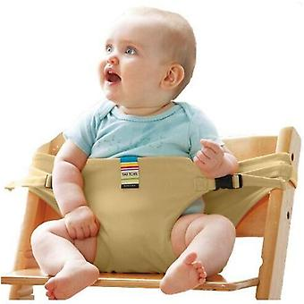 Baby Chair Portable Infant Dining/lunch Chair/seat, Safety Belt Feeding High