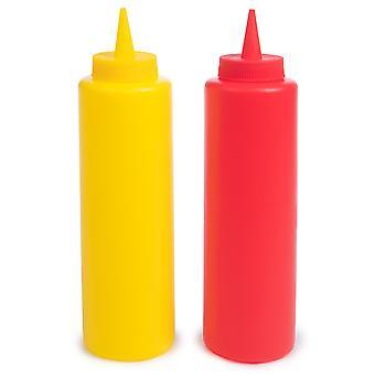 Kečup & lahvičky s hořčicí