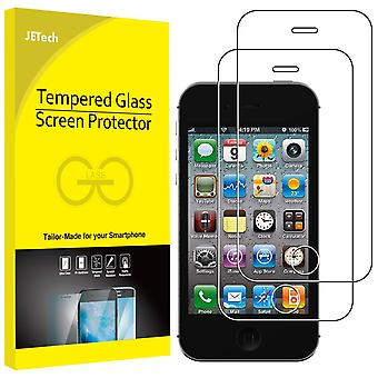 Jetech screen protector compatible iphone 4 and iphone 4s, tempered glass film, 2-pack