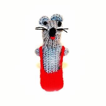 Urocza mała myszka palec marionetka