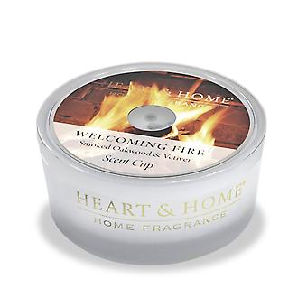 Heart & Home Glass Scent Cup Welcoming Fire