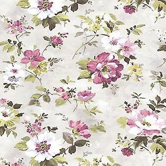 Fine Décor Floral Botanica Pink Wallpaper