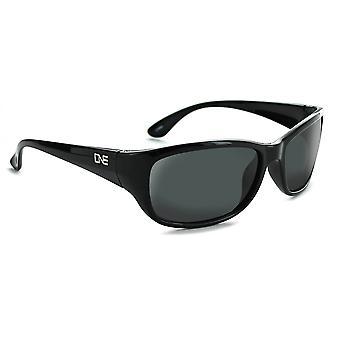 Sudan - polarized wide fit black / brown mens sunglasses