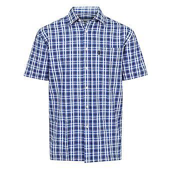 Walker and Hawkes - Mens Short Sleeved 100% Cotton Check Shirt