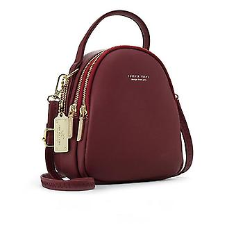 Leather Mini Backpack Purse Ladies Tote Multi-function Luxury Shoulder Bag