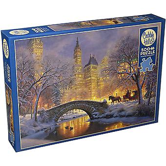 Cobble hill puzzle - winter in the park