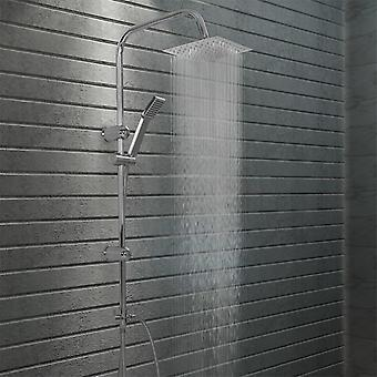 Double head shower set with hand shower stainless steel