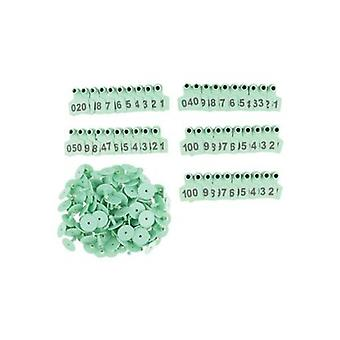 100 Pcs Rinder Ohr medium Vieh nummerierte Tags